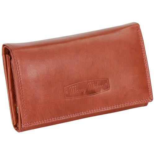 Ledershop24 RFID Damen Leder Geldbörse Damen Portemonnaie Damen Geldbeutel - Lang Rust Leder - Geschenkset + exklusiven Schlüsselanhänger
