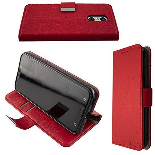 caseroxx Handy Hülle Tasche kompatibel mit Emporia Smart 3 Bookstyle-Hülle Wallet Hülle in rot