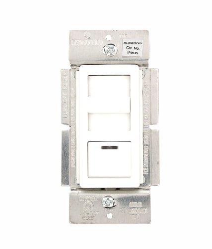Leviton IPM06-1LZ IllumaTech 600VA/450W Magnetic Low Voltage Dimmer, Single Pole and 3-Way, White/Ivory/Light Almond