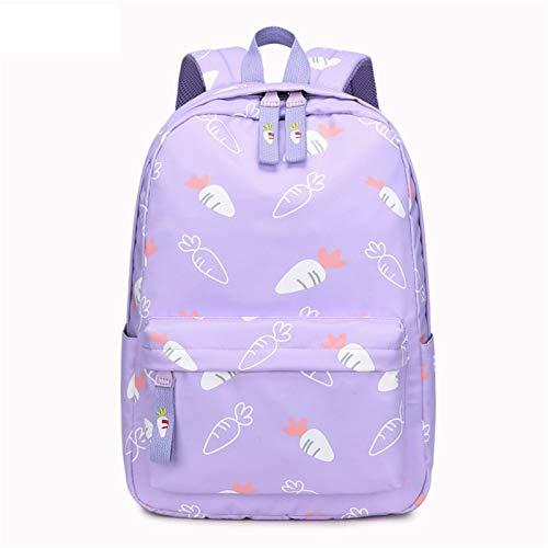 JenLn Mochilas de impresión Resistente al Agua Ligera para Mochila Escolar de Las niñas Adolescentes (Color : Purple, Size : 32x13x44cm)