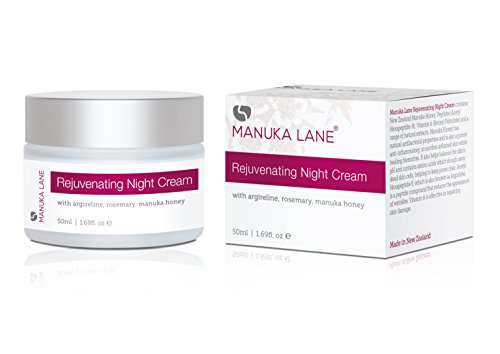 Rejuvenating Night Cream Moisturiser by Manuka Lane - Made with real New Zealand Manuka Honey, Peptides, and Retinol. Your best Anti-aging, Anti-wrinkle weapon for Dark Spots, Fine Lines, and Dry Skin
