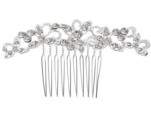 Kentop élégant, décoration Peigne de Poils de Cheveux mariée Accessoires pour Le Cheveux de Cheveux pour Femme, 9 * 6 cm