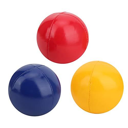 RiToEasysports Thud Juggling Balls Juego de 3 Bolas de Malabares de Cuero PU con Bolsa de Red