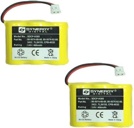 Lenmar CBD312 Cordless Phone Combo-Pack Includes: 2 x SDCP-H305 Batteries