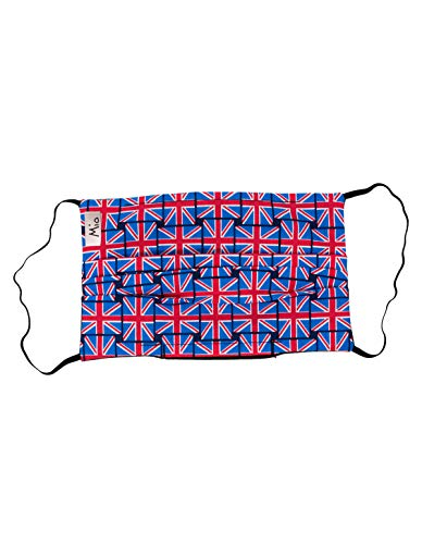 Mio BOB1 Union Jack Blue and Red Cotton Face Mask with Removable Nose Wire One Size