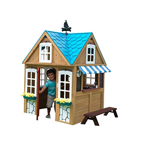 KidKraft 10025 Casa de Juguete para Exteriores Seaside Cottage de madera (FSC)