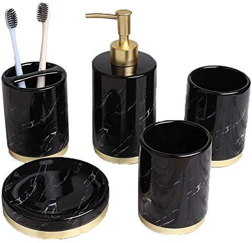 Conjunto de accesorios de baño, decoración de tocador de baño, 5 piezas...