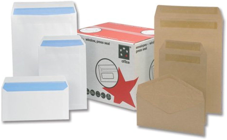 5 Star Versandtasche mit Druckverschluss und Fenster 90 g m² C5 500 Stück weiß B000I6M2FC | Große Auswahl