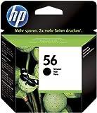 HP 56 C6656AE Cartuccia Originale per Stampanti a Getto di Inchiostro, Compatibile con Deskjet 5550, Photosmart 7350, 7150, 7345, Officejet 6110, 5110, Nero