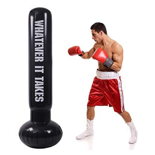 Boxsack,Standboxsack, Boxsack Freistehend Freistehend Boxen Ziel Boxsack Heavy Duty Boxen Taschen Hervorragend for Sparring/Kickboxen/Martial Arts Training