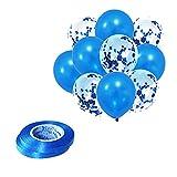 TOPPTIK Juego de 60 globos de lentejuelas transparentes de confeti, decoración de sala de boda, fiesta de cumpleaños, suministros de decoración (B)