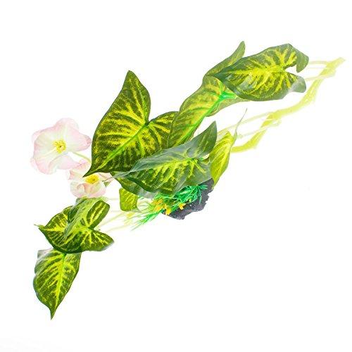 """Saim Aquarium Kunststoff Pflanzen Dekor künstliche gefälschte lebensechte Aquascaping Wasserpflanzen Gras Aquarium Ornament 11 \""""lang"""