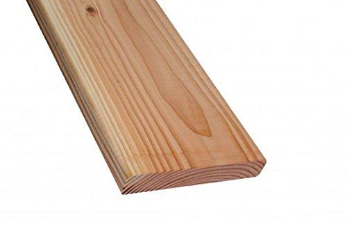Handmuster Terrassendiele Douglasie beidseitig glatt gehobelt, Kanten gefast, 26 x 140 mm (4,74 € / lfm)