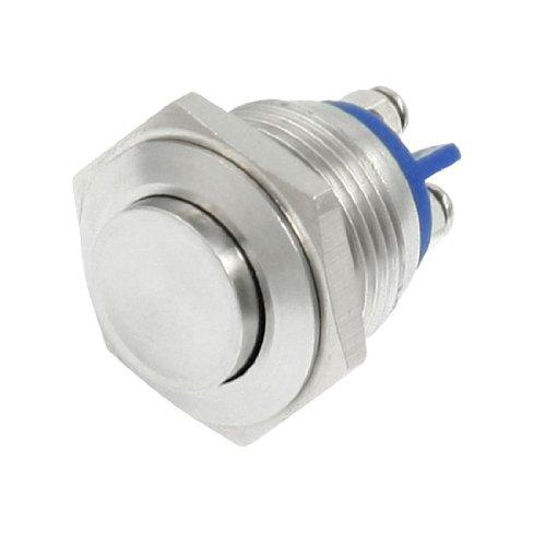 SODIAL(R) 16mm Haute Momentane ronde Metal Commutateur de bouton poussoir