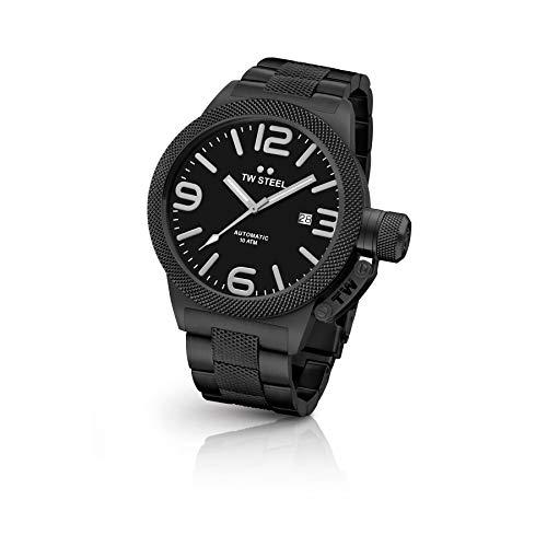 TW Steel Reloj Analógico para Hombre de Automático con Correa en Acero Inoxidable TWCB215