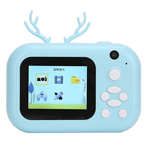 DAUERHAFT Cámara para niños diseño de Doble cámara cámaras Digitales Impresora térmica Mini cámara de 2,4 Pulgadas Presione brevemente el botón del Obturador