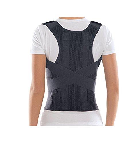 Bonvie Rückenbandage Rückenhalter Haltungskorrektur Geradehalter mit 2 Schienen für Damen und Herren zur Korrektur einer schlechten Körperhaltung, Größe:M