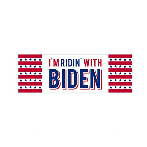 SBLABELS Riding with Biden Political Bumper Sticker / 2020 Democratic Candidate Bumper Decal Sticker