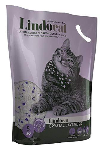 Lindocat Crystal Lavander Lettiera per Gatto al gel di Silicio, confezione da 5 lt