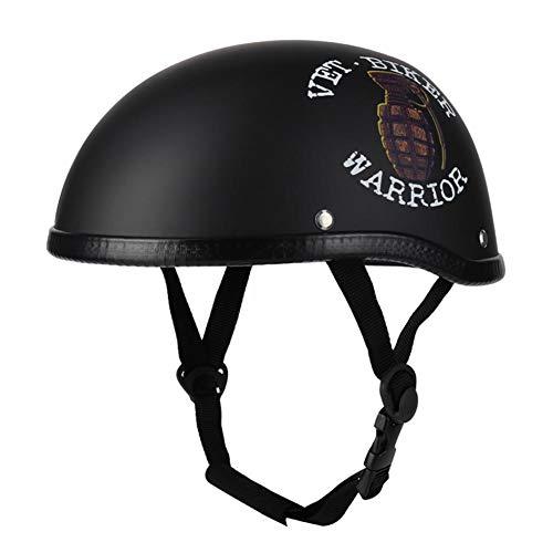 Helm, Motorrad Halbhelm Retro Halbhelm Schutzkopfbedeckung für Männer Frauen Helm