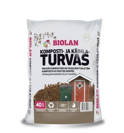Agande Biolan Biokompost * Inhalt 40L(ab0,67€/l) * WC TORF für Kompost- oder Trockentoilette, Garten WC Campingtoilette