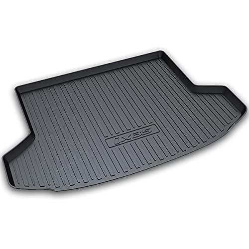 Negro Goma Alfombrillas para maletero Protector para Hyundai IX35 2018 2019, Interior Forro de Maletero, Accesorios de Alfombra, Maletero Trasero Bandeja Carga Alfombrillas Antirrayas