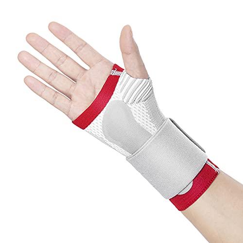 Thx4COPPER Kompression Handgelenkbandage - Handbandage mit dorsalem Druckkissen, Handgelenkstütze fur Karpaltunnel, Arthritis,Sehnenentzündung,Gelenkmuskelschmerzen, Sport Handstützschiene - rechts