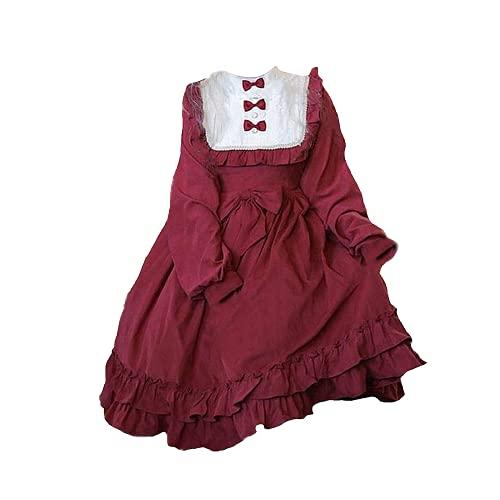 3 STÜCKE Kawaii Gothic Mittelalter op Lolita Palace Prinzessin Kleid Spitze Bowknot Hohe Taille Lolita Kleid Cosplay Kostüm