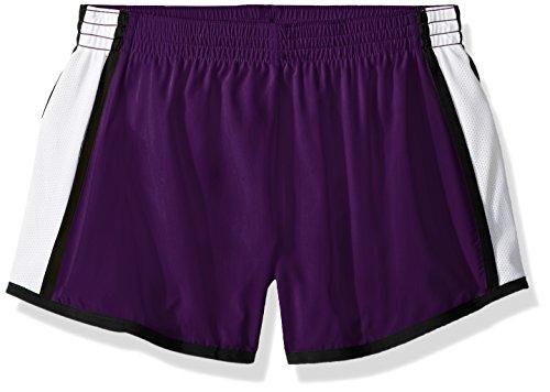 Augusta Sportswear Damen Augusta Girls Pulse Team, Purple/White/Black, Large Shorts, Violett/Weiß/Schwarz, Groß
