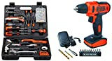 Combo of BLACK+DECKER BMT126C Hand Tool Kit (126-Pieces), Orange and Black & Black+Decker