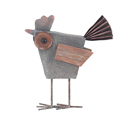 Deco 79 94817 Farmhouse Abstract Rooster Sculpture, 6' W x 20' H, Gray, Brown, Black
