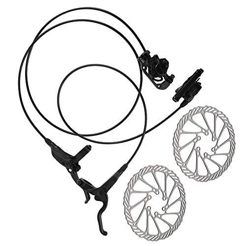 Keenso Universal de Acero Inoxidable y aleación de Aluminio Bicicleta de montaña Kit de Freno de Disco hidráulico Delantero y Trasero Accesorios de frenado de Bicicleta