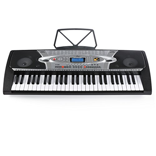 Joy 54-Key Portable Electronic Keyboard for Beginners with Interactive LCD Screen...