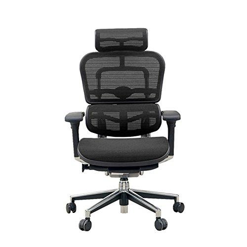 エルゴヒューマン ベーシック オフィスチェア ブラック ヘッドレスト付き 3Dファブリックメッシュ ergohuman BASIC EH-HAM KMD-31 幅67×奥行き66×高さ115(cm)