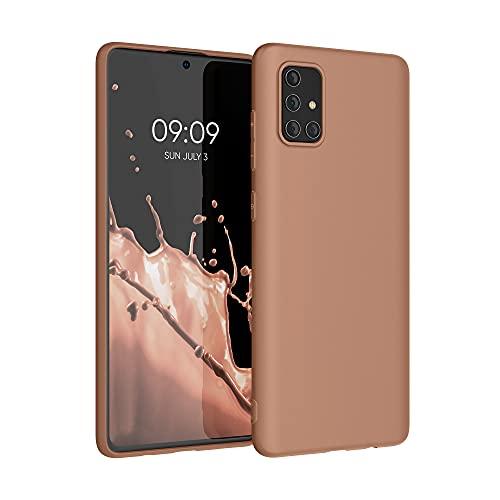 kwmobile Cover Compatibile con Samsung Galaxy A71 - Cover Custodia in Silicone TPU - Backcover Protezione Posteriore - Rosato