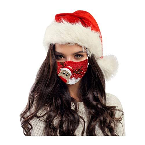 50pcs Adult Màsk for Coronàvịrụs Protectịon, Christmas Printed Disposable Face Mask, Breathable Safety Masks For Cyclịng, Càmpịng, Rụnnịng, Tràvelịng