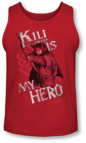 The Hobbit - - Kili Homme est mon héros Tank-Top, XX-Large, Red