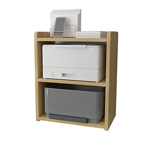 Soportes para impresoras Soporte de la impresora de escritorio, estante de la máquina de fax de 3 capas para la sala de estar de la sala de almacenamiento Estudio de la sala de estudio Tamaño del esta