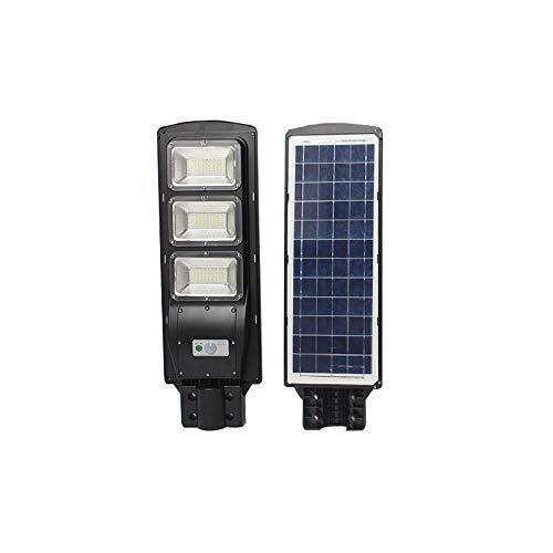 N / A Luz Solar LED de 30W 60W 90W, iluminación Exterior, Control Remoto + Control de luz, Fuerte Resistencia al frío, Tiempo de iluminación prolongado, Gran Espacio de iluminación-90W