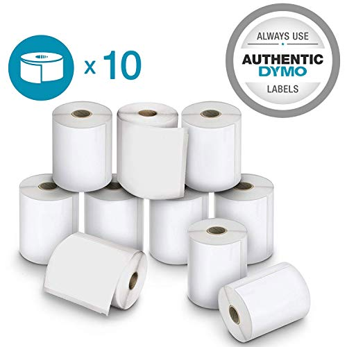 DYMO Authentic LW Extra-Large Shipping Labels for LabelWriter Label Printers, White, 4'' x 6'', 10 Rolls of 220 (2011999)