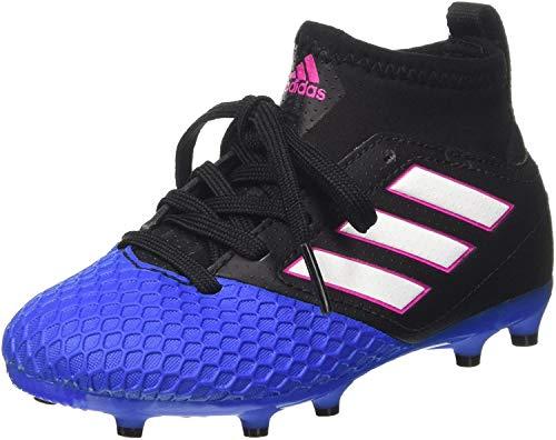 adidas Kinder-Unisex Ace 17.3 Fg J Fußballschuhe, Schwarz (Core Black / Ftwr White / Blue), 38 EU