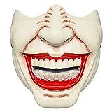 Halloween Mask Horror Clown Venom Prajna Half Face Creepy Scary Teeth Mask Cosplay Costumes Prop (E)
