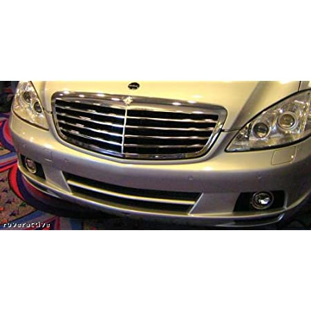 Set of 2 Bumper Face Bar Grilles Left-and-Right for Mercedes S Class S500 Pair