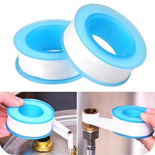 Teflon Tape, Thread Seal Tapes,PTFE Thread Seal Tape for Plumbers Sealant Tape for Leak Water Pipe Thread 1/2 inch x 500 inch (2 Pack/White)