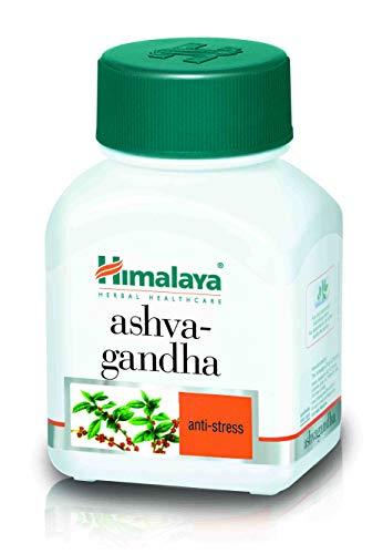 HIMALAYA HERBALS Ashwagandha | Natürliches Ergänzungsmittel gegen Stress und Angst, Veganische Kapseln - 60 Stück (Ashwagandha-1 Pack)