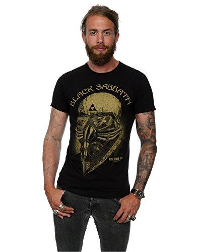 Camiseta de Black Sabbath Tour del 78 Tony Stark, para hombre Negro negro L