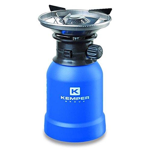 Kemper Gas Campingkocher Gaskocher Windschutz mit Piezo-Zündung für 190 g Kartuschen