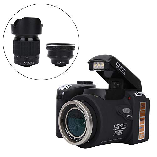 Full HD 1080p digitale camera, 3 inch LCD-scherm, 8-voudige digitale zoom, 24-voudige optische zoom 13MP-videocamera camcorder met LED-licht, 0,5-voudige groothoeklens en 24-voudige telelens voor Vlog