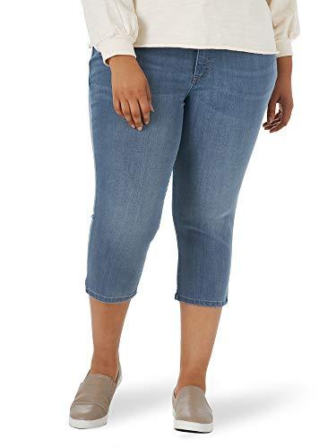 Lee Plus Size Sculpting Slim Fit Mid Rise Capri Jean, Table de Balcon, 48 Femme