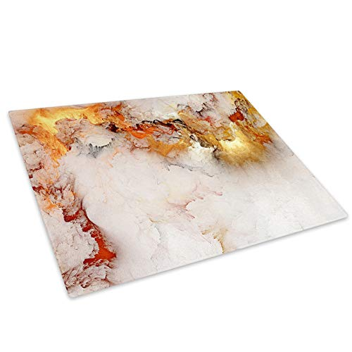 Retro White Marble Glass Chopping Board Kitchen Worktop Saver Protector